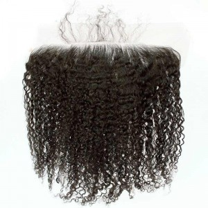 13*6 Lace Frontal With Natural Hairline 3B 3C Kinky Curly Brazilian Virgin Hair Lace Frontal