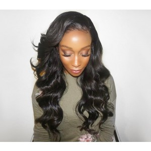 360 Lace Wigs Brazilian Human Hair Body Wave 180% Density Full Lace Human Hair Wigs