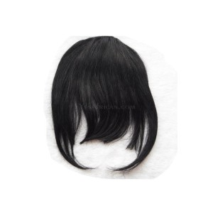Natural Bang Clip In Bangs Fringe Extensions Colorful Human Hair