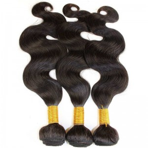 Indian Virgin Hair Body Wave Human Hair Weaves 3 Bundles Natural Color can be dyed and bleached