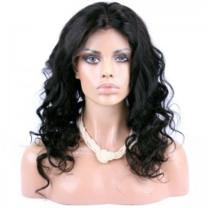 Full Lace Wigs Unprocessed Natural Color 100% Brazilian Virgin Human Hair Body Wave Natural Color
