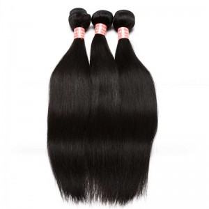 Indian Virgin Hair Silky Straight Human Hair Weaves 3 Bundles Natural Color can be dyed and bleached