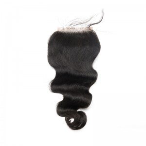 Hot Sale Virgin Human Hair Lace Top Closure Natural Color 4x4inches(1pc/IP only)