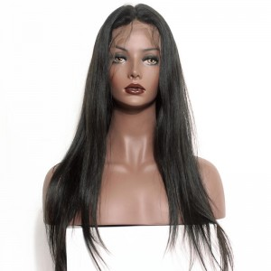 Brazilian Wigs Pre-Plucked Natural Hair Line 150% Density Wigs Silk Straight Lace Front Ponytail Wigs
