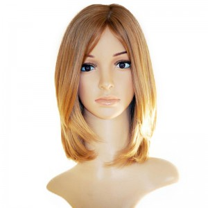 Honey Brown Color Silky Straight European Virgin Hair Silk Top Full Lace Jewish Wigs