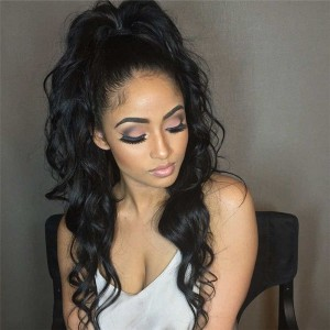 360 Circular Lace Wigs 180% Density Full Lace Wigs Loose Wave Natural Hairline Human Hair Wigs