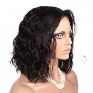 Short Bob Wigs 250% Density Natural Weave For Women Natural Color Lace Front Human Hair Wigs