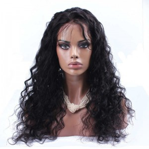 Lace Front Human Hair Wigs Loose Wave Peruvian Human Hair Wigs Natural Color