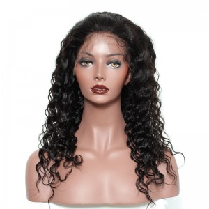 360 Circular Lace Wigs 180% Density 100% Human Hair Wigs Deep Wave Human Hair Wigs - UUHair