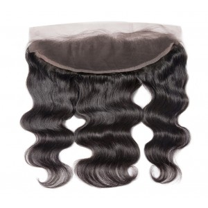 Brazilian Lace Frontal Closure Body Wave 13*4Plucked Natural Hairline Bleached Knots 100% Human Hair