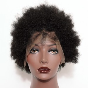 Full Lace Human Hair Wigs Short Afro Kinky Hair 100% Human Hair Full Lace Wigs Natural Color