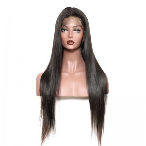 Brazilian Lace Wigs Straight 100% Human Hair Wigs Natural Color bleached knots can by dyed and bleached