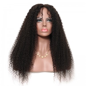Full Lace Human Hair Wigs Kinky curly 100% Human Virgin Hair Natural Hairline