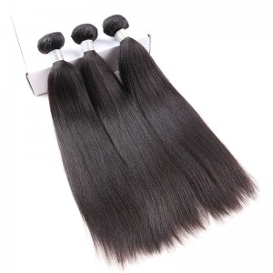 Brazilian Virgin Hair Yaki Straight Human Hair Weave Bundles Natural Color can be dyed and bleached - UUHair