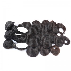 Brazilian Virgin Hair Body Wave Human Hair Weaves 3 Bundles Natural Color can be dyed and bleached