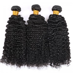 Brazilian Virgin Hair Human Hair Weave Bundles Kinky Curly Natural Color can be dyed and bleached