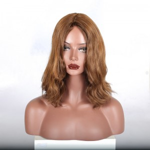 Finest European virgin hair slight wave jewish wig , silk top kosher wig Best Sheitels free shipping