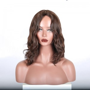 kosher wig Jewish Lace Wigs European virgin hair Natural wave, silk top Best Sheitels free shipping