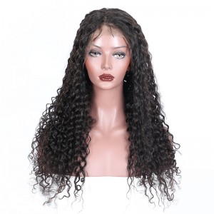 360 Lace Wigs 180% Density Full Lace Human Hair Wigs 7A Brazilian Hair Deep Curly Human Hair Wigs