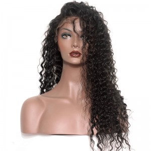 Full Lace Wigs Deep Wave Natural Color 100% Human Virgin Hair No Shedding
