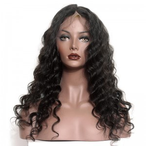 Bleached Knots Pre-Plucked Natural Hair Line 360 Lace Frontal Wigs 150% Density Loose Wave Human Hair Wigs