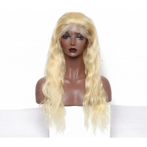 Brazilian Virgin Hair Big Body Wave Blond Color #613 Lace Front Human Hair Wigs