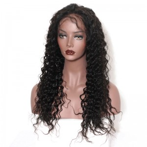 360 Lace Wigs 180% Density Full Lace Human Hair Wigs 7A Brazilian Hair Loose Curly Human Hair Wigs