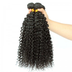 Peruvian Virgin Hair Human Hair Weaves 3 Bundles Extra Kinky Curly Natural Color can be dyed and bleached