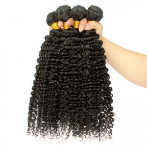 Brazilian Virgin Hair Human Hair Weaves 3 Bundles Extra Kinky Curly Natural Color can be dyed and bleached