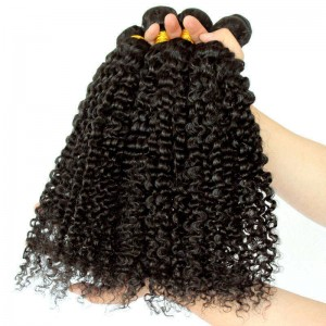 Indian Virgin Hair Extra Kinky Curly Human Hair Weaves 3 Bundles Natural Color can be dyed and bleached