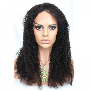 Lace Front Human Hair Wig Brazilian Virgin Human Hair Afro Kinky Curly Lace Front Wigs