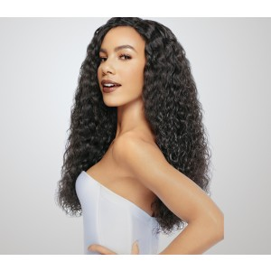 250% High Density Human Hair Lace Front Wigs with Baby Hair Loose Curly Natural Hair Line  for Black Women