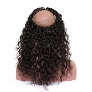 360 Lace Frontal Closure Loose Wave Brazilian Virgin Hair Lace Frontal Natural Hairline 22.5*4*2