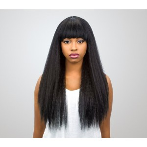 360 Lace Wigs 180% Density Kinky Straight Human Hair Wigs Pre-Plucked Natural Hairline - UUHair
