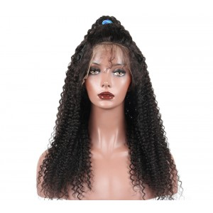 Brazilian Lace Wigs 200% Density Brazilian Virgin Human Hair Kinky Curly Lace Closure Wigs