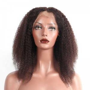 Brazilian Lace Wigs Afro Kinky Curly 14 inch Full Lace  Human Hair Wig Fast Shipping 72 Hour Delivery