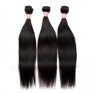 Peruvian Virgin Hair Silky Straight Human Hair Weaves 3 Bundles Natural Color can be dyed and bleached