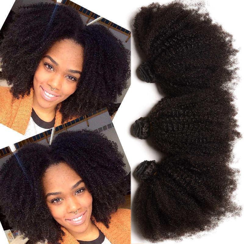 Peruvian Virgin Hair Human Hair Weaves 3 Bundles Afro Kinky Curly