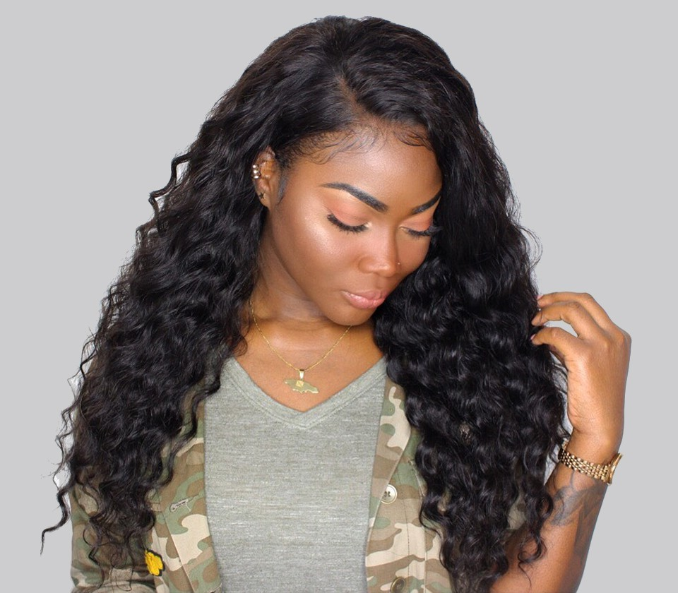 Bleached Knots Pre Plucked Natural Hair Line 360 Lace Frontal Wigs