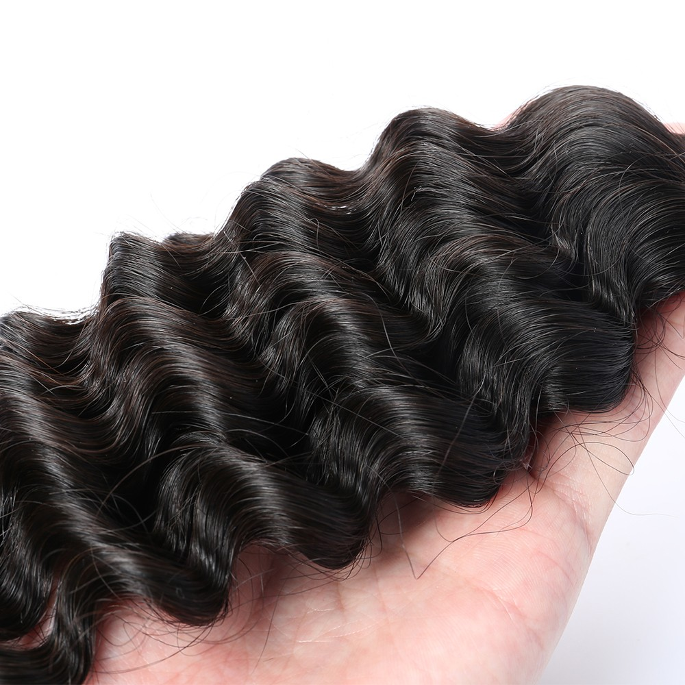 Brazilian virgin hair deep wave human hair weaves bundles natural brazilian virgin hair deep wave human hair weaves bundles natural color can be dyed and bleached solutioingenieria Images