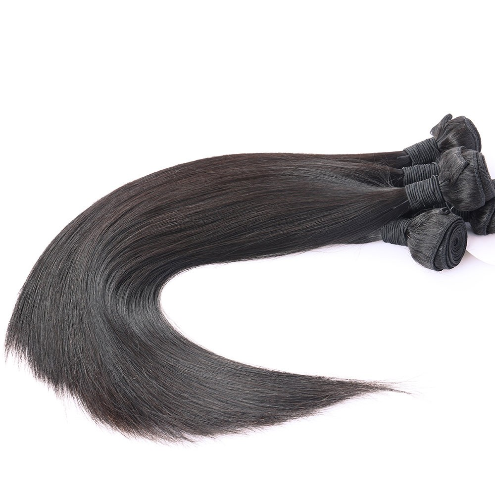 Brazilian Virgin Hair Silky Straight Human Hair Weaves 3 Bundles