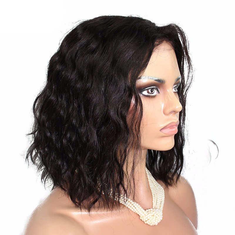 Short Bob Wigs 250 Density Natural Weave For Women Natural Color