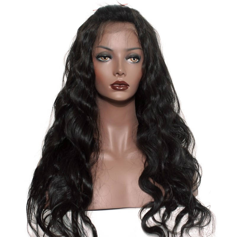 preplucked natural hair line 360 lace wigs brazilian lace