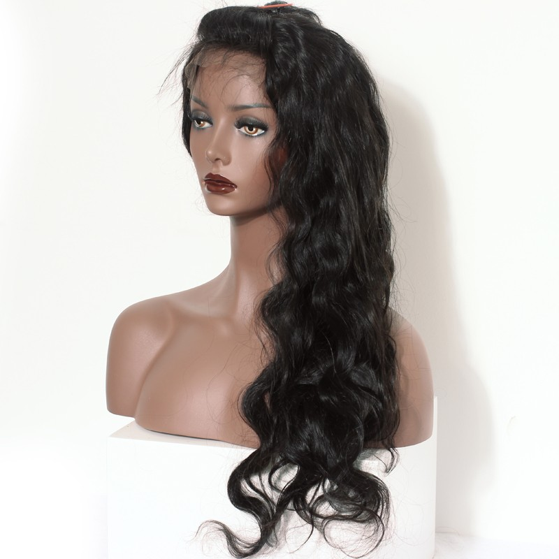 36ca68bbf 250% Density Full Lace human Hair Wigs Brazilian Virgin Human Hair Body wave  Glueless Lace