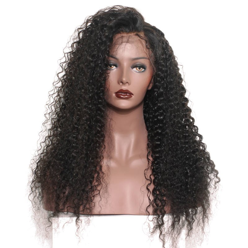 1a4b7d520 250% High Density Human Hair Lace Front Wigs with Baby Hair Loose Curly  Natural Hair