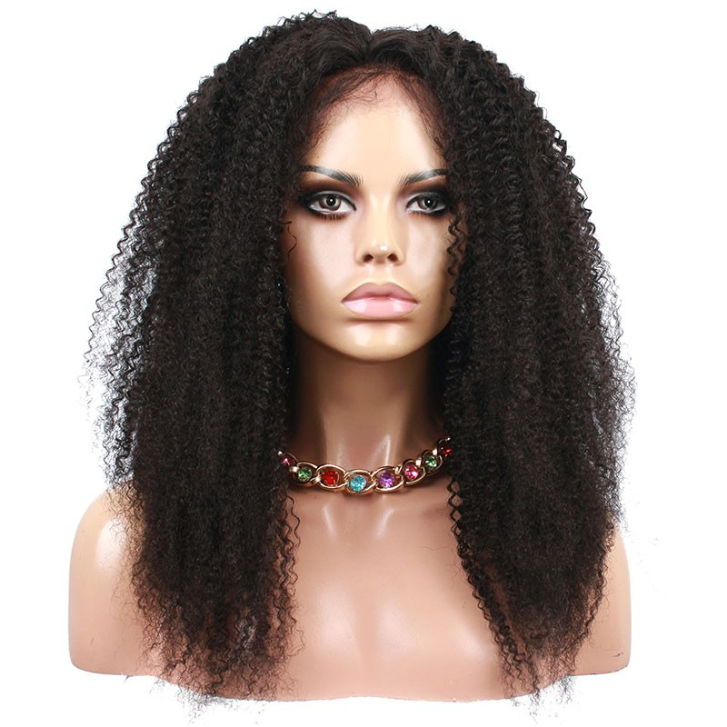 Natural Color Afro Kinky Curly Human Hair Brazilian Virgin Hair ...