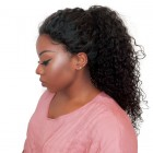 Pre-Plucked Natural Hair Line 360 Lace Wigs 180% Density Indian Virgin Hair Deep Curly Human Hair Wigs Bleached Knots - UUHair
