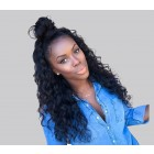 Brazilian Lace Front Ponytail Wigs Loose Wave Pre-Plucked Natural Hair Line 150% Density wigs No Shedding