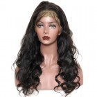 Brazilian Virgin Hair Lace Front Human Hair Wigs Weavy Natural Color can be dyed and Bleached