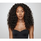 Pre-Plucked Natural Hair Line 360 Lace Wigs 180% Density Deep Wave Brazilian Human Hair Bleached Knots - UUHair